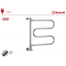 Полотенцесушитель электрический Margaroli Vento 500, цвет: хром 500CRB