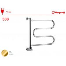 Полотенцесушитель электрический Margaroli Vento 500, цвет: золото 500GOB