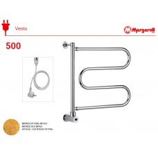 Полотенцесушитель электрический Margaroli Vento 500, шнур, цвет: бронза 500OBC