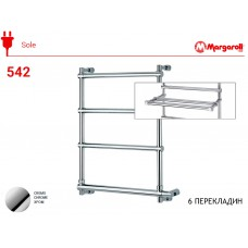 Полотенцесушитель электрический Margaroli Sole 542, цвет: хром 5424706CRPB