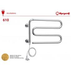 Полотенцесушитель электрический Margaroli Acrobaleno 610, цвет: бронза 610OBC