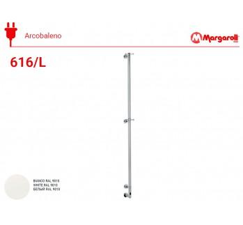 Полотенцесушитель электрический Margaroli Acrobaleno 616/L, цвет: белый 616WHNB