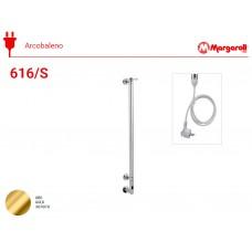 Полотенцесушитель электрический Margaroli Acrobaleno 616/S, шнур, цвет: золото 616900GOC