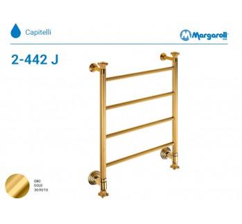 Полотенцесушитель водяной Margaroli Capitelli 2-442J, цвет: золото 2442J4704GO