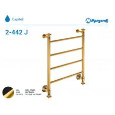 Полотенцесушитель водяной Margaroli Capitelli 2-442J, цвет: Черный/золото 2442J4704OPB