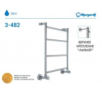 Полотенцесушитель водяной Margaroli Mini 3-482, цвет: бронза 34824704OBN