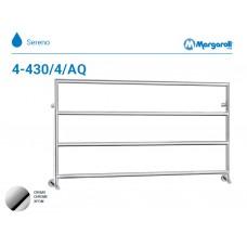 Полотенцесушитель водяной Margaroli Sereno 4-430/4/AQ, цвет: хром 4430116804AQCRN