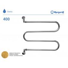 Полотенцесушитель водяной Margaroli Vento 400, цвет: бронза 400OB
