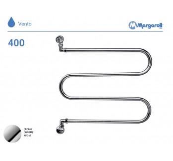Полотенцесушитель водяной Margaroli Vento 400, цвет: хром 400CR