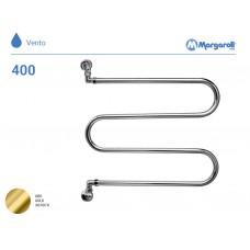 Полотенцесушитель водяной Margaroli Vento 400, цвет: золото 400GO