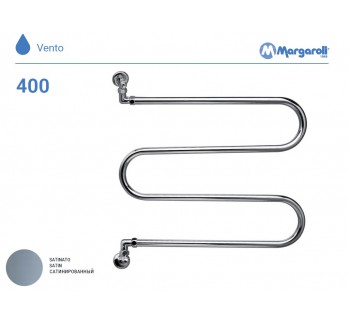 Полотенцесушитель водяной Margaroli Vento 400, цвет: сатин 400SA