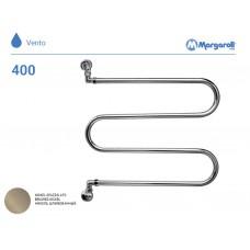 Полотенцесушитель водяной Margaroli Vento 400, цвет: шлифованный никель 400BN