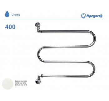 Полотенцесушитель водяной Margaroli Vento 400, цвет: белый 400WH