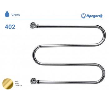 Полотенцесушитель водяной Margaroli Vento 402, цвет: золото 402GO