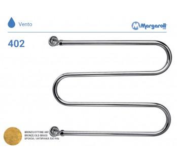 Полотенцесушитель водяной Margaroli Vento 402, цвет: бронза 402OB