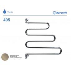 Полотенцесушитель водяной Margaroli Vento 405, цвет: шлифованный никель 405BN