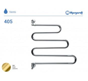 Полотенцесушитель водяной Margaroli Vento 405, цвет: золото 405GO