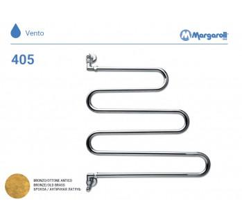 Полотенцесушитель водяной Margaroli Vento 405, цвет: бронза 405OB