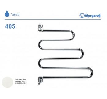 Полотенцесушитель водяной Margaroli Vento 405, цвет: белый 405WH