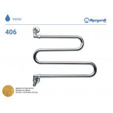 Полотенцесушитель водяной Margaroli Vento 406, цвет: бронза 406OB