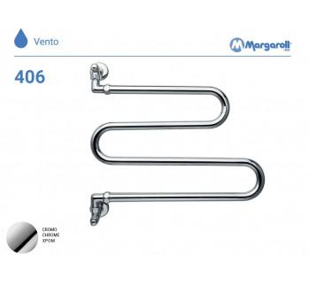 Полотенцесушитель водяной Margaroli Vento 406, цвет: хром 406CR
