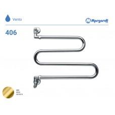 Полотенцесушитель водяной Margaroli Vento 406, цвет: золото 406GO