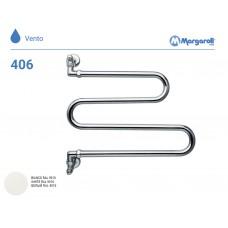 Полотенцесушитель водяной Margaroli Vento 406, цвет: белый 406WH