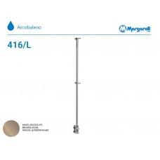 Полотенцесушитель водяной Margaroli Arcobaleno 416/L, цвет:  шлифованный никель 416LBN