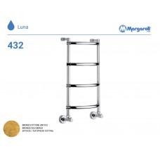Полотенцесушитель водяной Margaroli Luna 432, цвет: бронза 4323704OBN