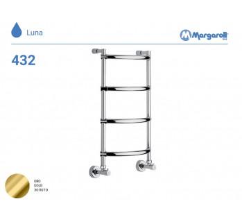 Полотенцесушитель водяной Margaroli Luna 432, цвет: золото 4323704GON
