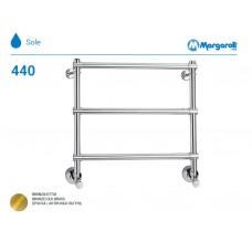 Полотенцесушитель водяной Margaroli Sole 440, цвет: бронза 4403704OBN