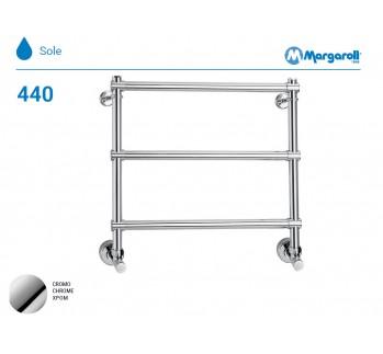 Полотенцесушитель водяной Margaroli Sole 440, цвет: хром 4404703CRN