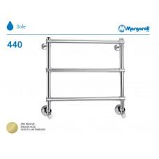 Полотенцесушитель водяной Margaroli Sole 440, цвет: английское золото 4404703EGO