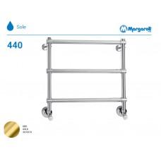 Полотенцесушитель водяной Margaroli Sole 440, цвет: золото 4403704GON