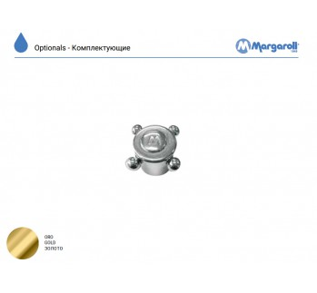Ручка штурвальчик, золото, Margaroli MN0000AA12GD