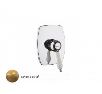 Смеситель для душа встройка, бронза, Margaroli Classica 1007 RU1007AA01BR